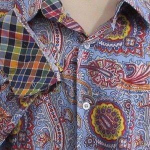 EUC Alan Flusser Men's Paisley Button Up Shirt
